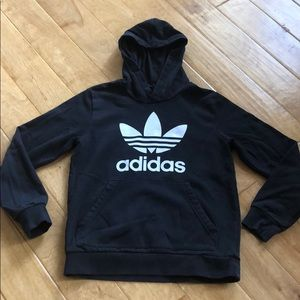 Adidas Black Cotton Hoodie Youth Large